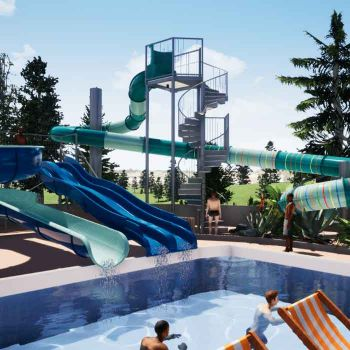 Camping Le Moulin **** : Zwemmen/Wellness